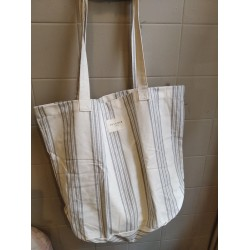BOLSA GRANDE GREY MULTISTRIPES